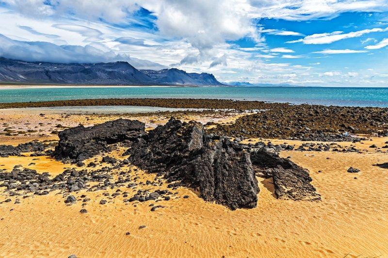 пейзаж, лето, природа, исландия, ладшафт, пляж, океан Пляж, Исландияphoto preview