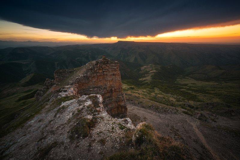 бермамыт, карачаево-черкесия, горы, пейзаж, закат Бермудский Бермамытphoto preview