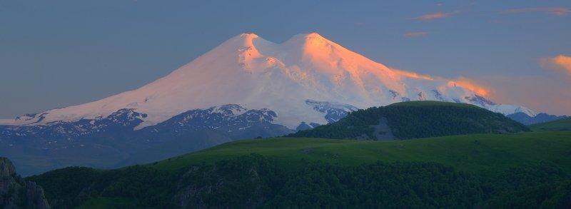горы лето кавказ эльбрус Закат ,Эльбрусphoto preview