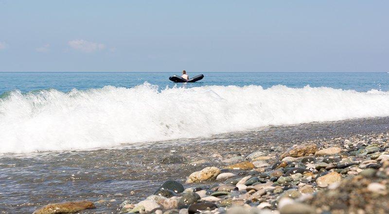 Абхазия. Волны Черного моря.photo preview