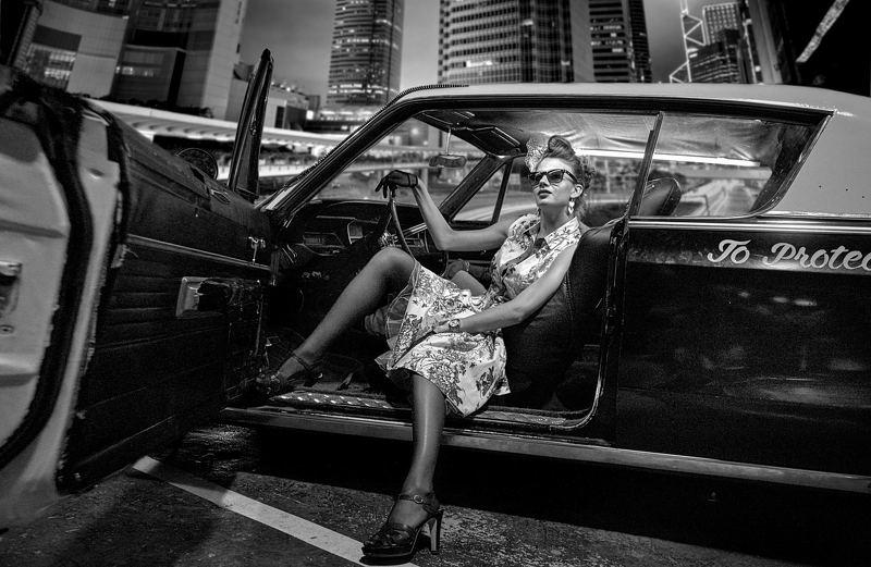портрет, ночь, жанр, коллаж, rekhov Вспоминая 60-е...photo preview