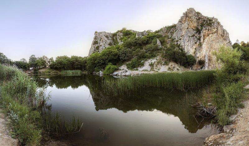 крым, скала, вечер, панорама Вечер у Красного камняphoto preview