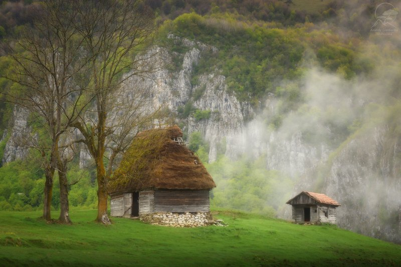 пейзаж, природа, горы, румыния, карпаты, туман, облака Apuseni фото превью