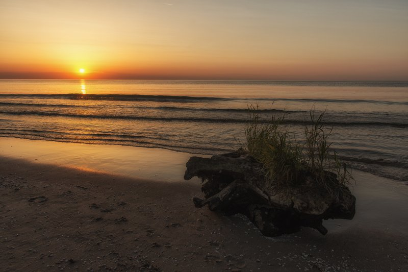 sunset,beach,sand,sea,seascape Sunset at Baltic Seaphoto preview