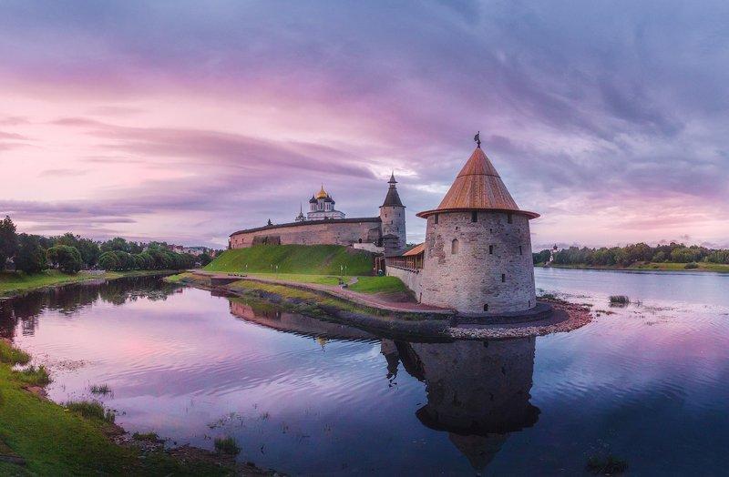 псков, россия, рассвет, небо, река Июльский рассвет в Псковеphoto preview