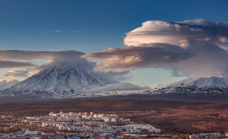 камчатка, корякский, вулкан, закат Суровая реальностьphoto preview