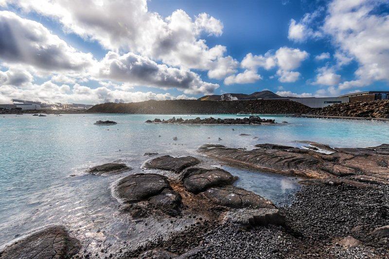 пейзаж, лето, природа, исландия, ладшафт Голубая лагунаphoto preview