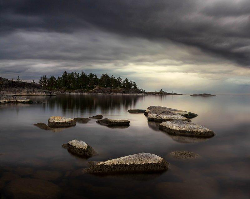 ладога, белая ночь, шхеры, рассвет ,карелия ,камни Ладожские камниphoto preview