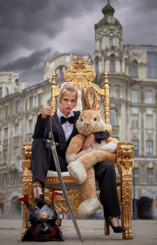 портрет, стритфото, жанр, rekhov Зайку в обиду не дам...photo preview