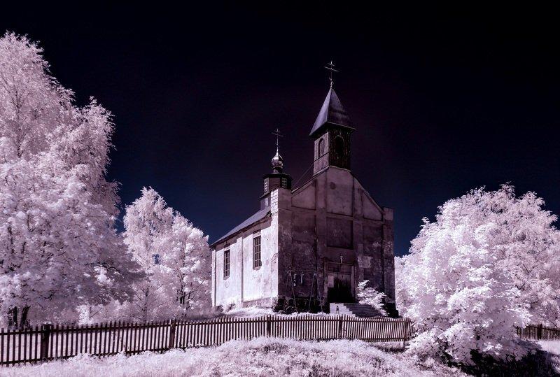 infrared,ик-фото,инфракрасное фото, инфракрасная фотография, пейзаж, лето, Старое время.photo preview