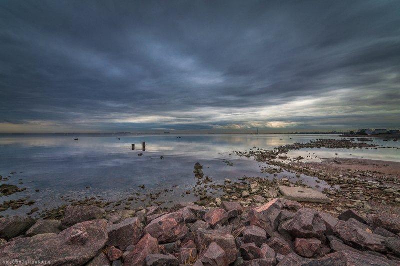 пейзаж, природа, путешествия, travel, wildlife, nature, landscape, canon, colours, тучи, clouds, dramatic sky, грозовое небо Финский залив перед рассветомphoto preview
