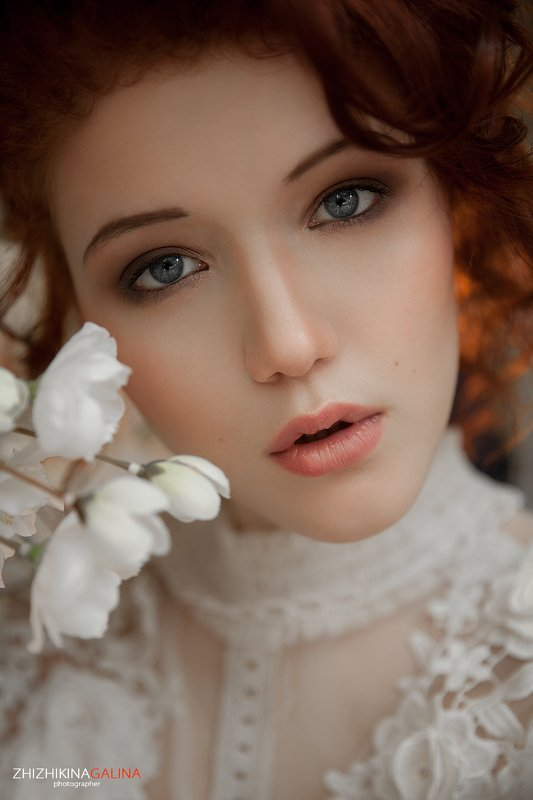 девушка, портрет, взгляд, глаза, portrait, face, girl, beauty, рыжая, фотограф, москва, жижикина Весенний цветок фото превью