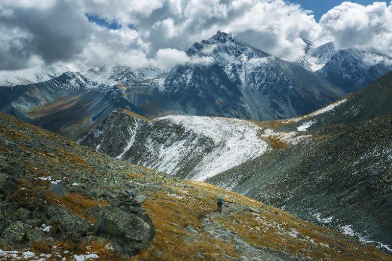 горы, облака, природа, алтай, рассвет, река, путешествие, россия, озеро Крайние метры всегда самые сложныеphoto preview