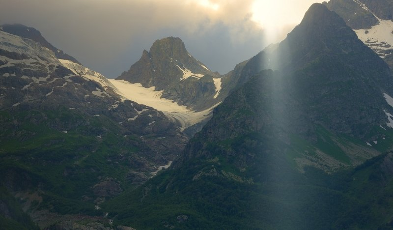 горы лето кавказ алибек вечер Закат в горахphoto preview