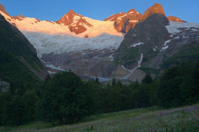 горы лето кавказ алибек рассвет Рассвет в горах Кавказаphoto preview