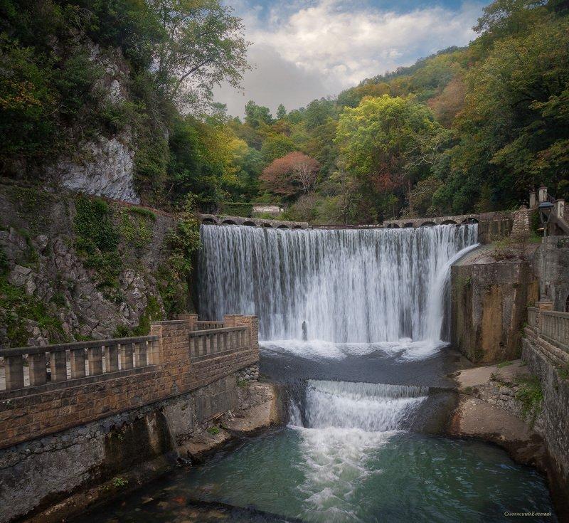 водопад, новый афон, абхазия, осень Новоафонский водопадphoto preview
