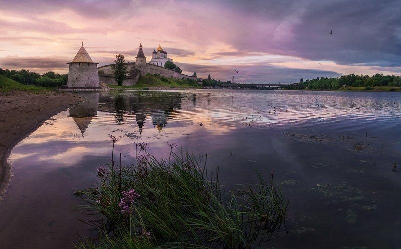 псков, троицкийсобор, утро, россия, великая Утроphoto preview