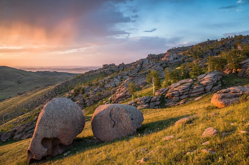 горы На  закатном  солнышке.photo preview