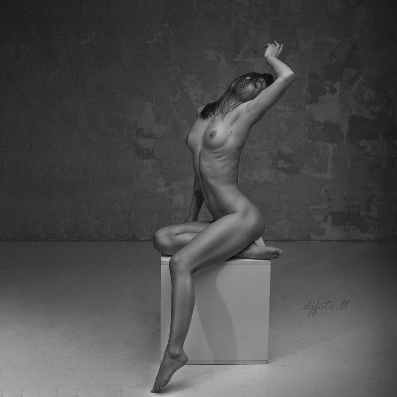 djfoto, nude, nude art, nudevilnius, nudephotographyworkshop, bwnude, black and white nude Nude funphoto preview