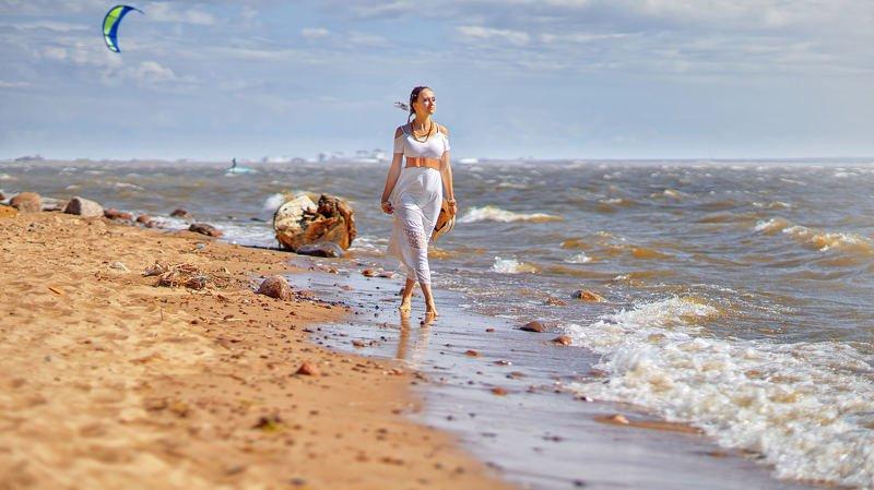 портрет, стритфото, жанр, море, пляж, rekhov Прогулка по морюphoto preview