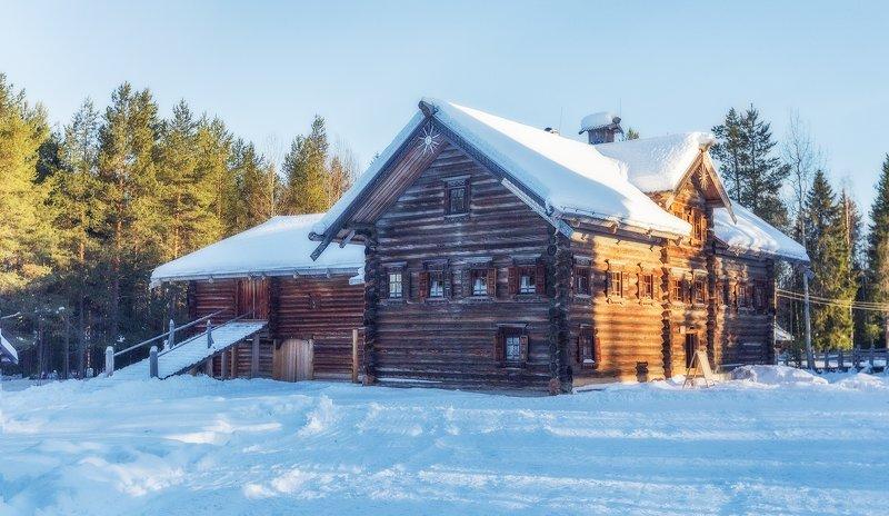 малые корелы, север, зодчество, деревянный, постройки, дома. Малые Корелыphoto preview