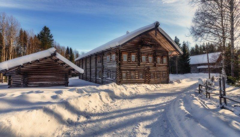 малые корелы, север, зодчество, старые, дома, деревянный, музей Малые Корелыphoto preview