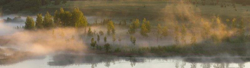 утро, изборск, туман, природа, озеро Утро...photo preview