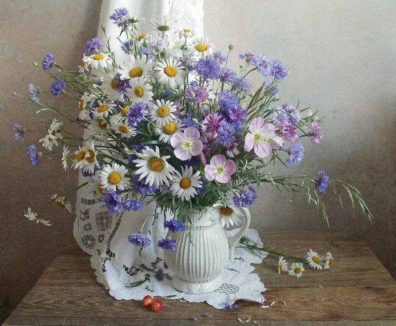 лето,  цветы, натюрморт, марина филатова Есть особая прелесть в цветах полевыхphoto preview