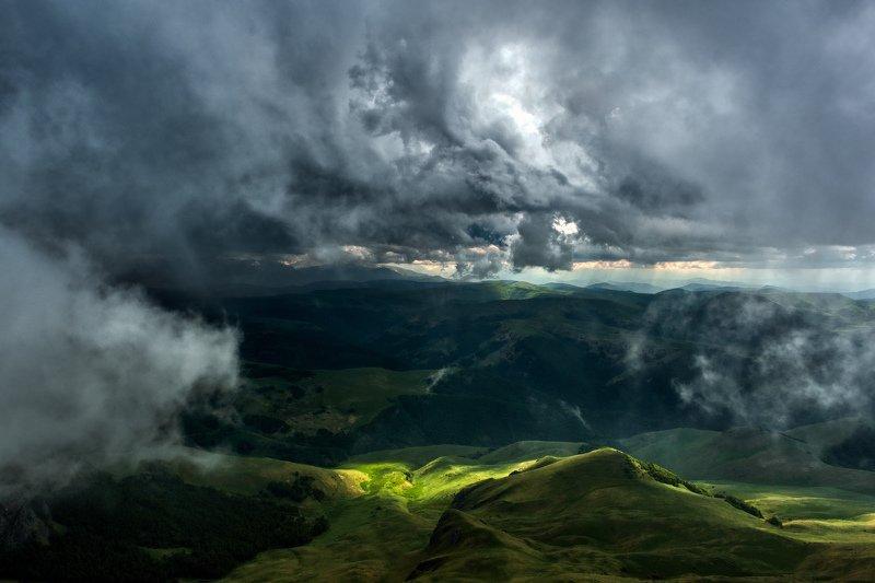 приэльбрусье, кавказ, fujifilm Гроза на плато Бермамытphoto preview