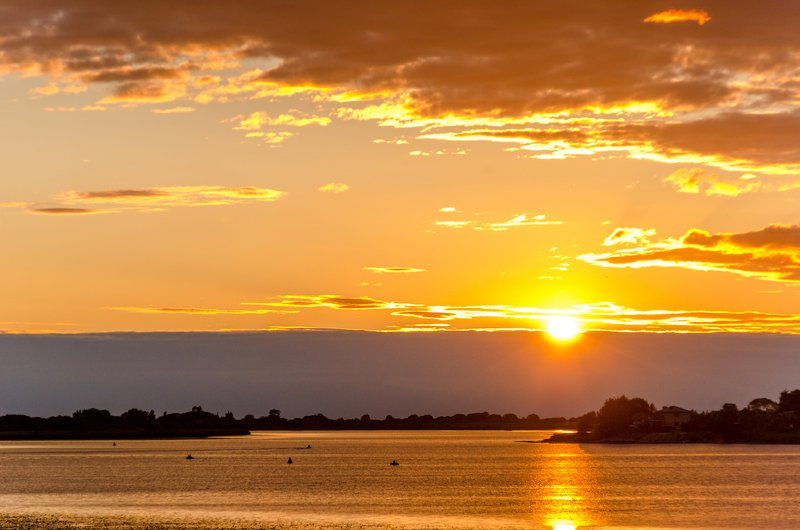 закат, великая, лето, небо, озеро, река Закат над Великойphoto preview