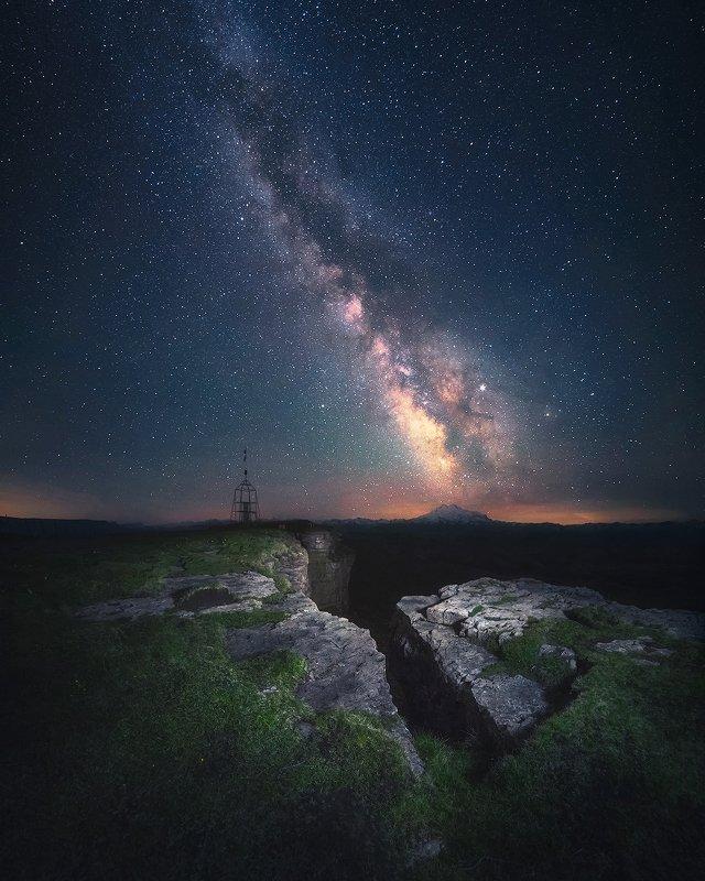 млечный путь, звезды, ночь, пейзаж, горы, бермамыт, кчр, кавказ Ночные часыphoto preview