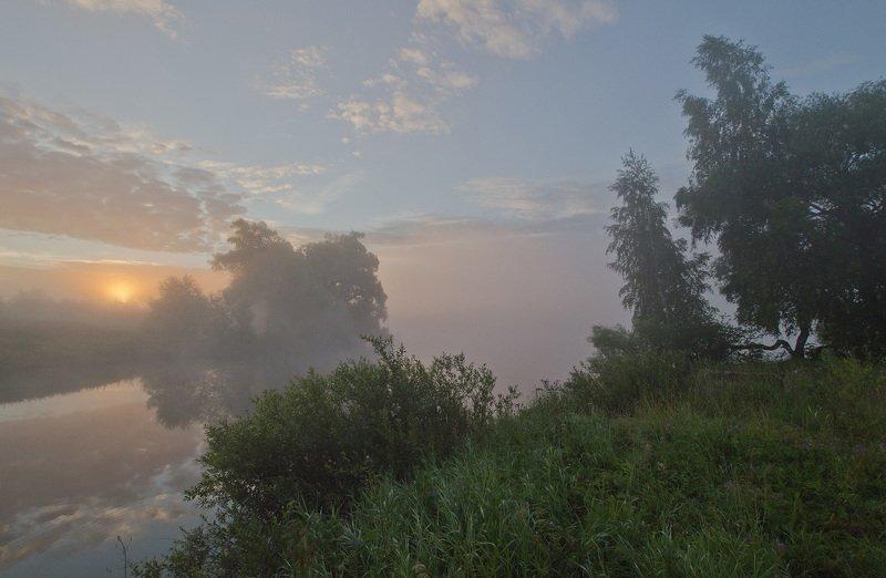 утро, рассвет, восход, лето, пейзаж В час рассветаphoto preview