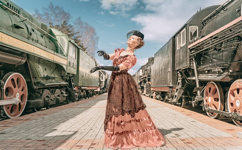 анна каренина anna karenina поезд train женщина woman кино cinema railway station вокзал Анна Кphoto preview