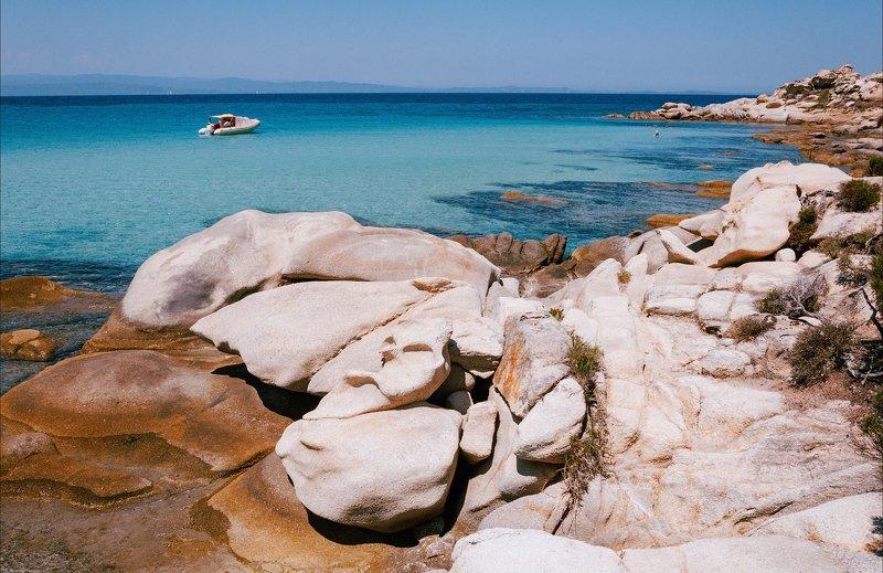 море пляж кариди лодка небо греция халкидики ситония ***photo preview