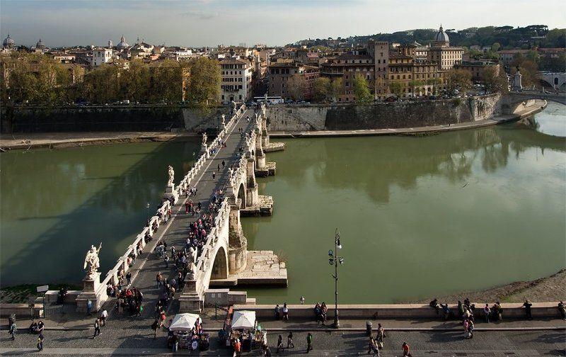 ангел, весна, италия, мост, рим Рим. Мост. Весеннее...photo preview