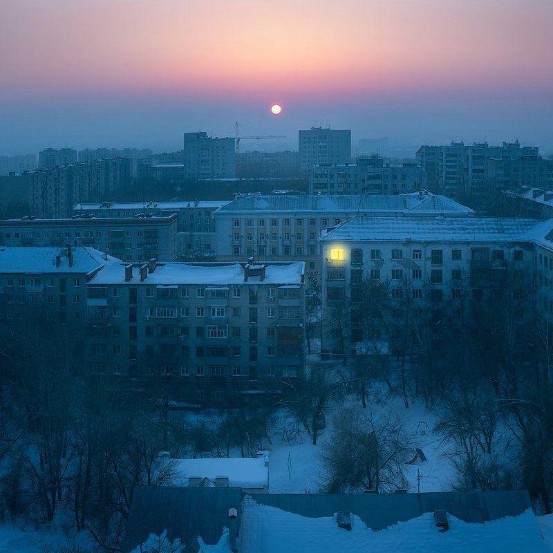 ульяновск, вечер, зима, город, городской пейзаж Вечер над Ульяновскомphoto preview