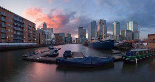 London: Canary Wharf sunset