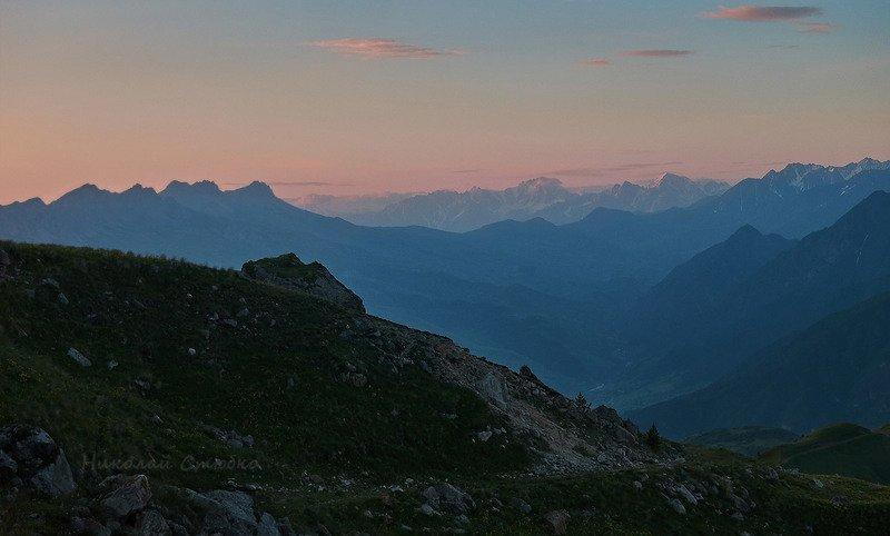 кавказ горы утро заря На зареphoto preview