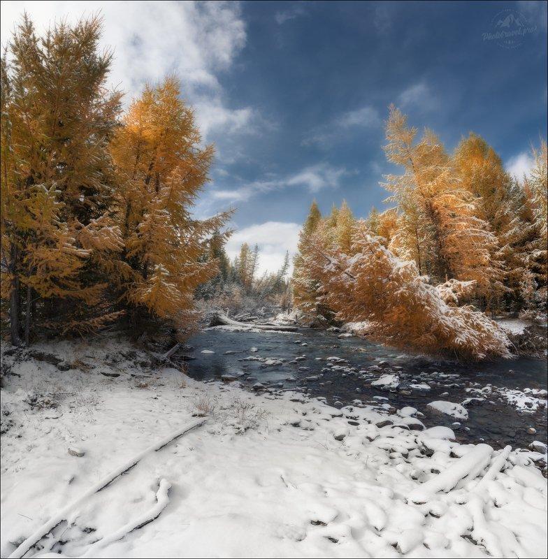 Алтай, осень, Джангысколь, Ештыкель Три цвета осени ... фото превью