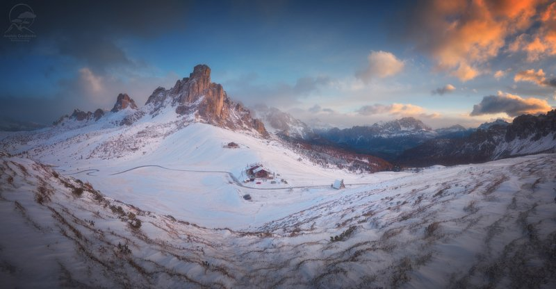 пейзаж, природа, горы, италия, доломиты Passo Giau фото превью