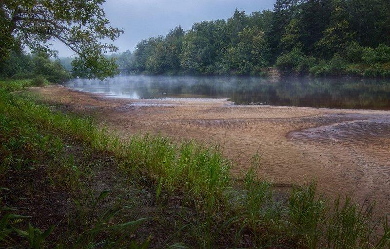 река,берег,туман,трудно доступные места,раннее утро, Утренний туманчик стелется над рекой.photo preview