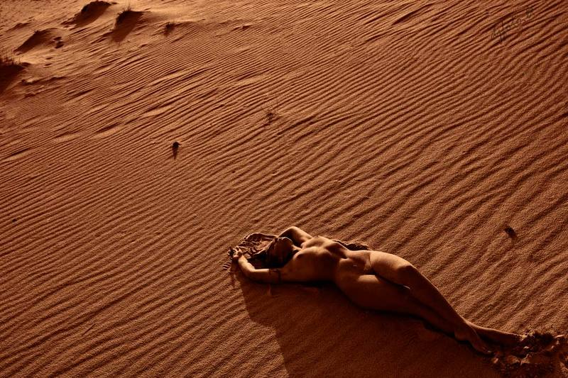 djfoto, nude, nude art, Nida, dunes, Lithuania,  Lost in Dunesphoto preview