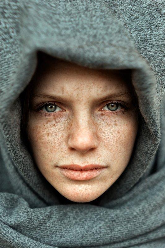 Женский портрет, портрет, природа, portrait, women, красивый портрет, взгляд, рыжая, конопушки Викаphoto preview