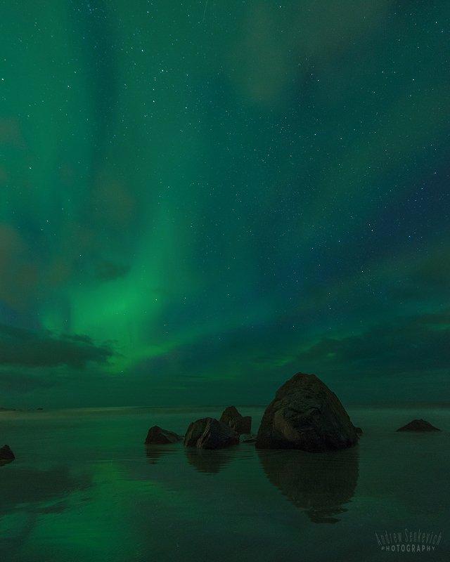 лофотены, lofotens, северное сияние, aurora Лофотены. Сияние 4. =)photo preview
