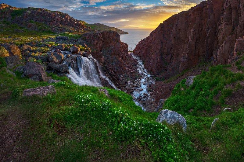 Кольский, Териберка, Водопад Водопад Териберскийphoto preview