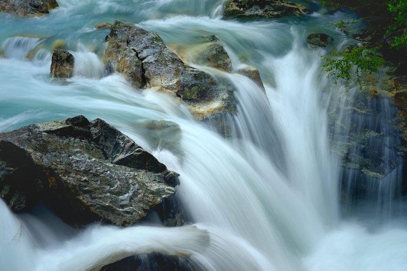 горы лето кавказ река водопад маруха Водопадphoto preview