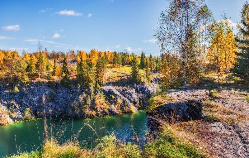 рускеала, карелия, озеро, каньон, мраморный, осень, горы, горный парк Рускеала, Мраморный каньонорный каньонphoto preview