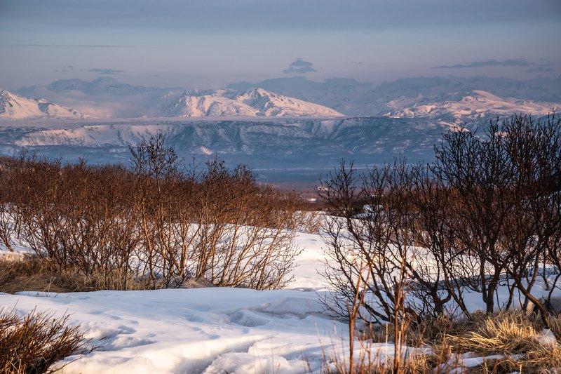 Камчатка, Толуд, закат, горы Далёкие хребтыphoto preview