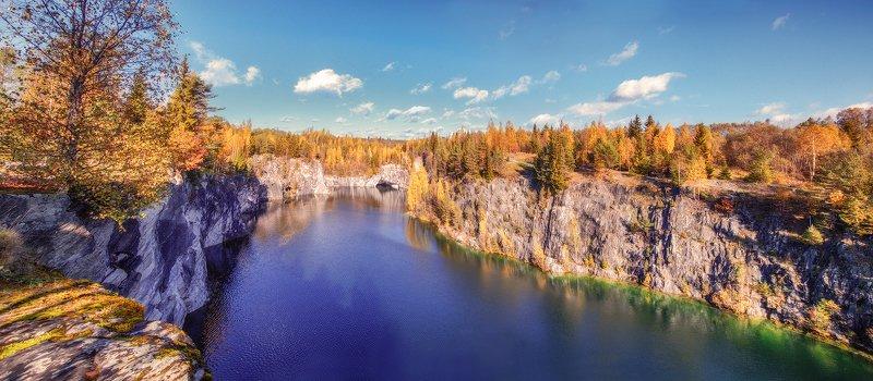 рускеала, карелия, озеро, каньон, мраморный каньон, осень, горы, горный парк Рускеала, Мраморный каньонphoto preview