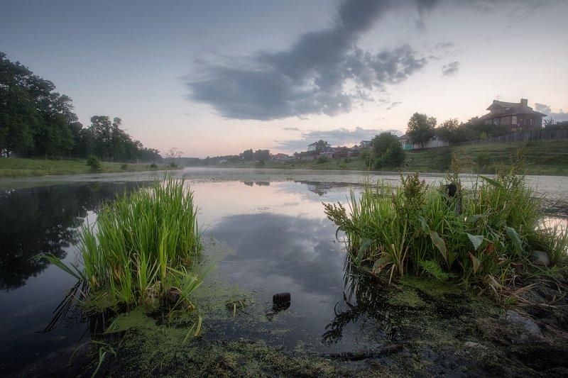 природа утро солнце туман деревья река Утро уходящего летаphoto preview